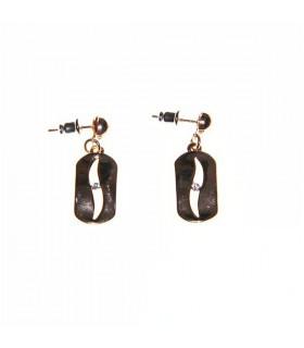 Gold razer earrings