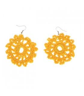 Yellow crochet big flower