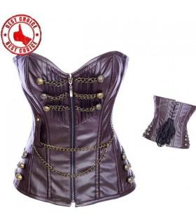 Superbe corset de style militaire