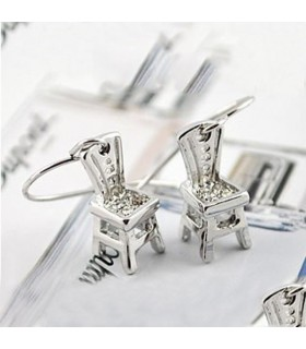 Charming chair earrings