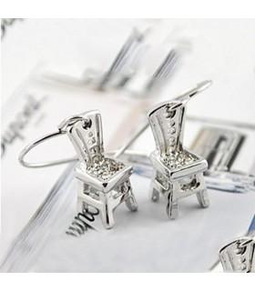 Charming chair earrings