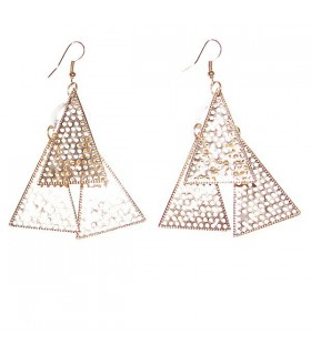 Boucles d'oreilles triangles d'or