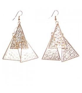 Dreieck goldene Ohrringe