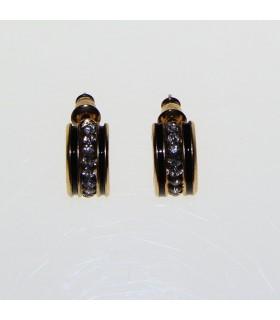 Eleganti orecchini dorati con strass