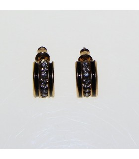 Goldene elegante Ohrringe mit Strass