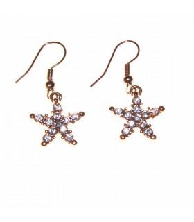 Goldene Sterne Ohrringe