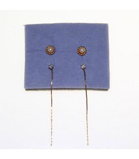 4 in 1 golden earrings