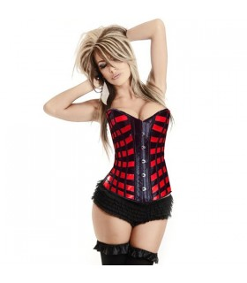 Corset rayures rouges