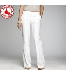 Pantaloni di cotone bianco