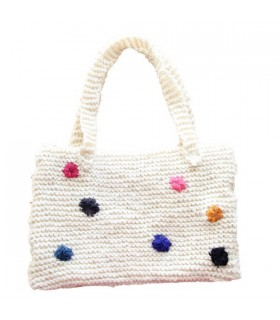 White knitted white bag