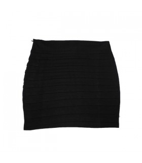 Hip wrap hem skirt