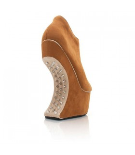 Kein Schuhabsatz Spike Stiefel