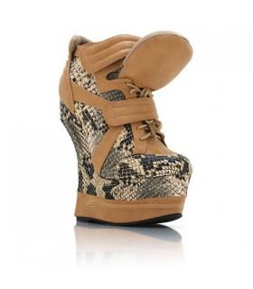Reptile High Heel Sneakers Stiefel