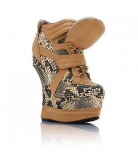 Reptile high heel snickers boots