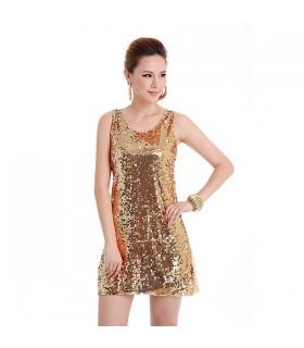 Goldene PaillettenKleid