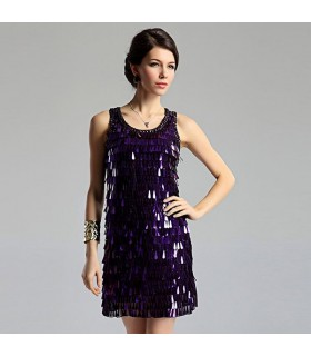 Purple special sequin dress