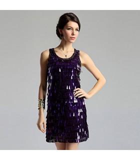 Robe violet paillettes spéciales