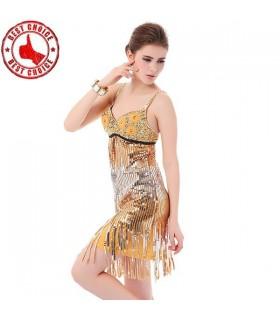Goldenes Retro Pailetten Kleid