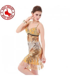 Retro sequin golden dress