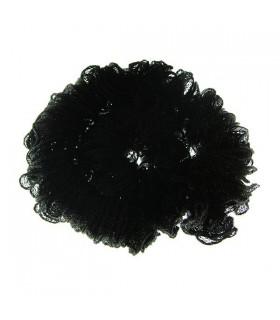 Black sparkle ruffle scarf