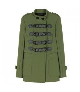 Cappotto verde di moda