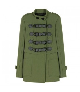 Green fashion coat