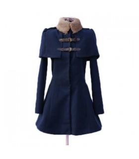 Manteau chic saphir bleu