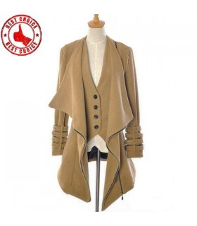 Super fashion buckles coat