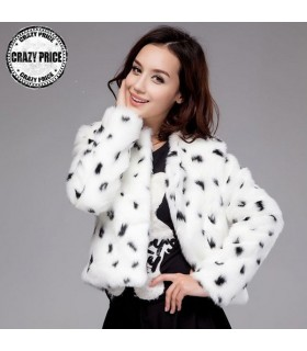 Imitation rabbit hair short coat