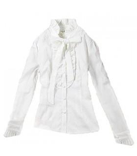 Chemise vintage bowknot blanc