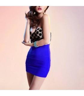 Sexy blaue Tupfen verkleiden