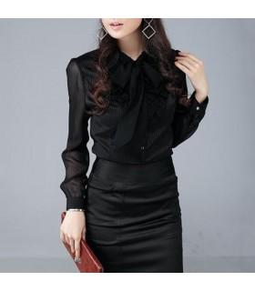 Chemise noire élégante