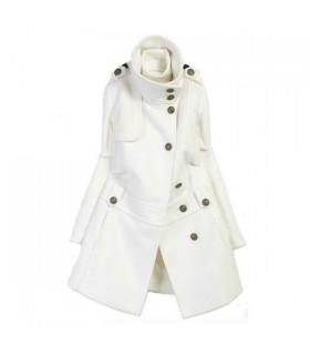 Manteau blanc chaud