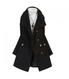 Schwarzer modischer Mantel