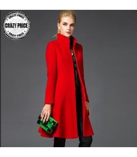 Manteau rouge chaud