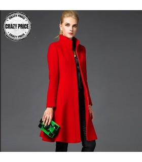 Red warm coat