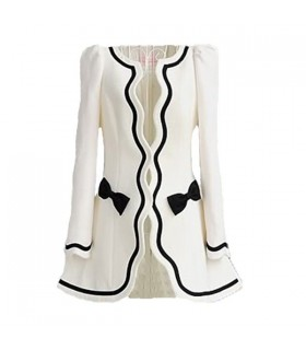 Retro white fashion coat