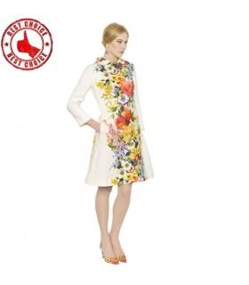 Fashion flower coat