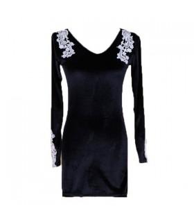 Robe de velours noir