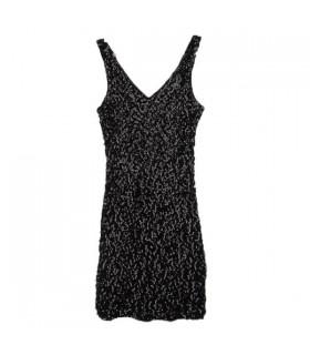 Robe de paillette noire