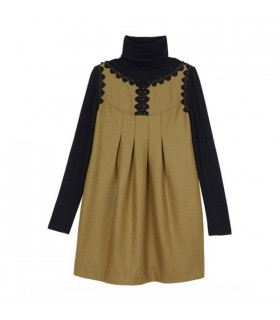 High collar long sleeve special dress