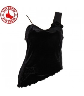 Black velvet elegant top