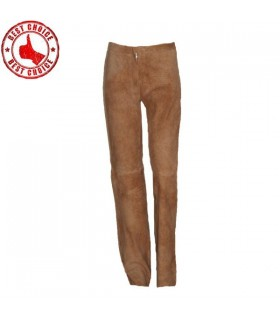 Pantaloni di pelle scamosciata di lusso