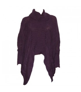 Modern cut purple sweater