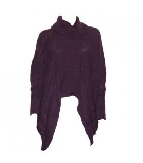 Moderner Schnitt lila Pullover