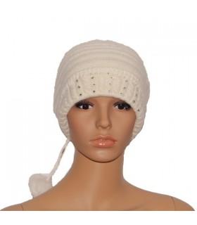 Chapeau blanc angora
