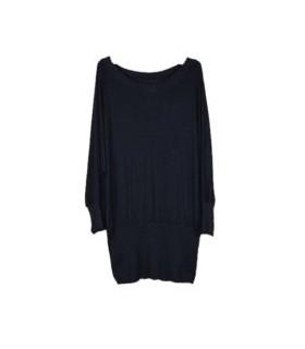 Schwarz Reißverschluss Kleid