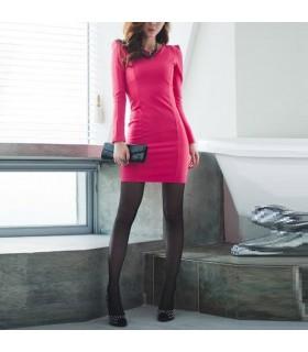 Rosa Langarm Kleid