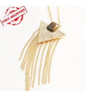 Collana moderna triangolo
