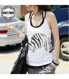 Halter zebra strisce top